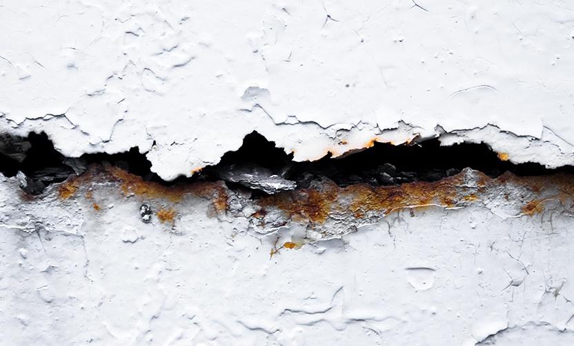 Waterproofing cracked repair